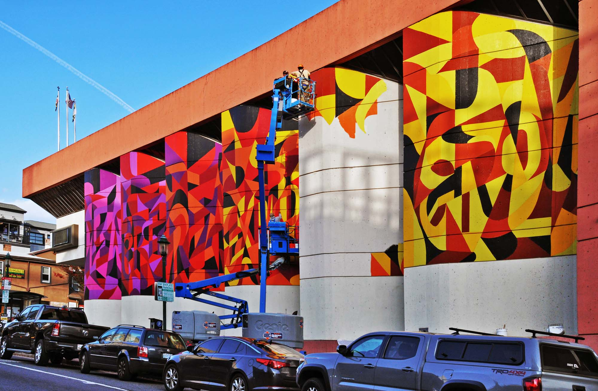 Public Art Mural WIP in Towson Maryland