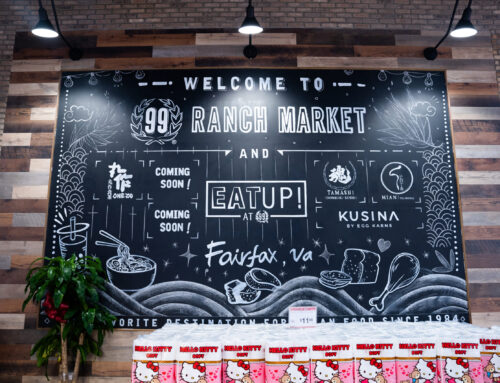 Asian Supermarket Mural – Chalk Art for 99 Ranch Market in VA