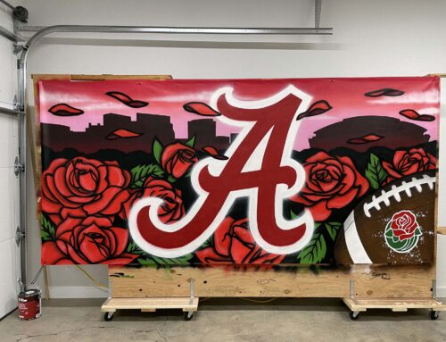 2021 Rose Bowl Graffiti Murals – Alabama vs. Notre Dame
