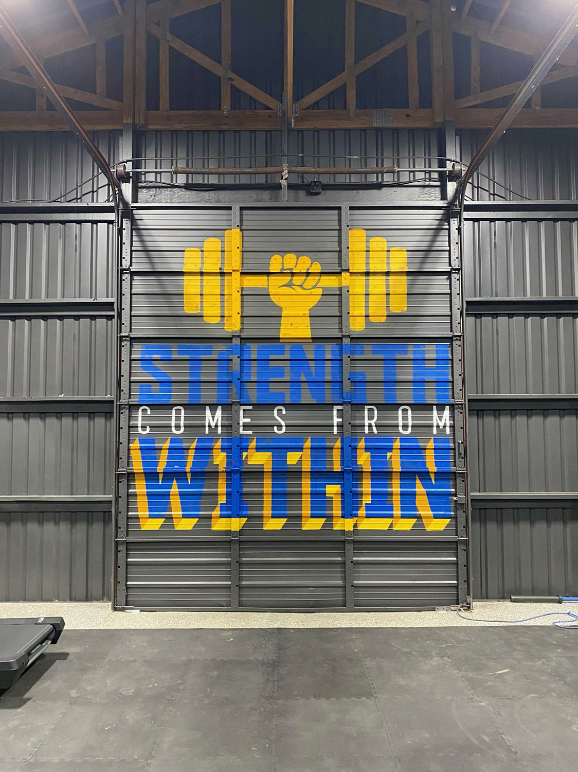 workout mural