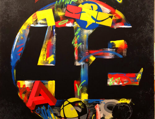 Branded Street Art Canvas for Private Client
