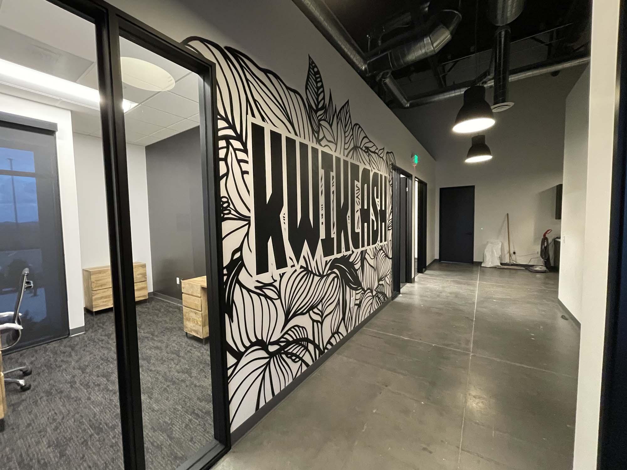 Black & White Graffiti Art Mural