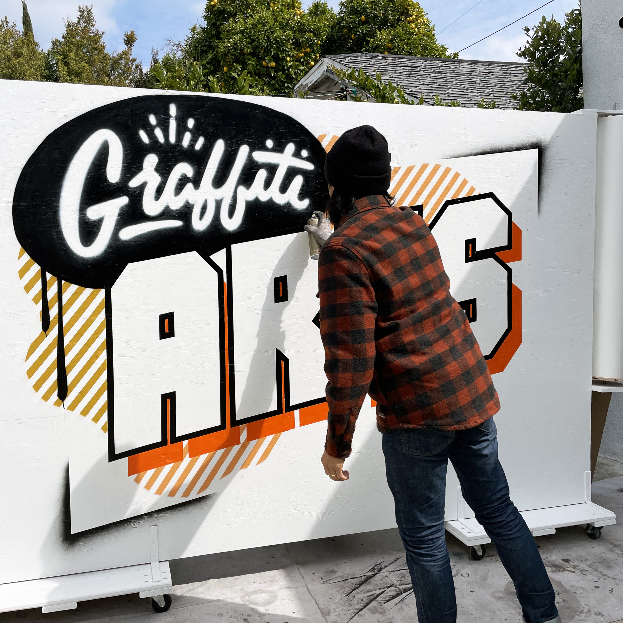 Spray Painted Mural - Graffiti Projection Mapping