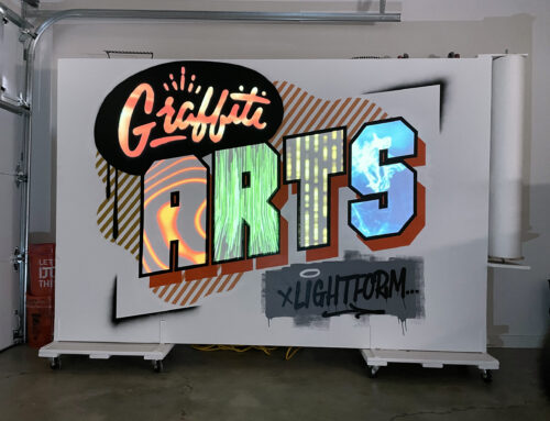 Projection Mapping Mural – Graffiti Arts x Lightform