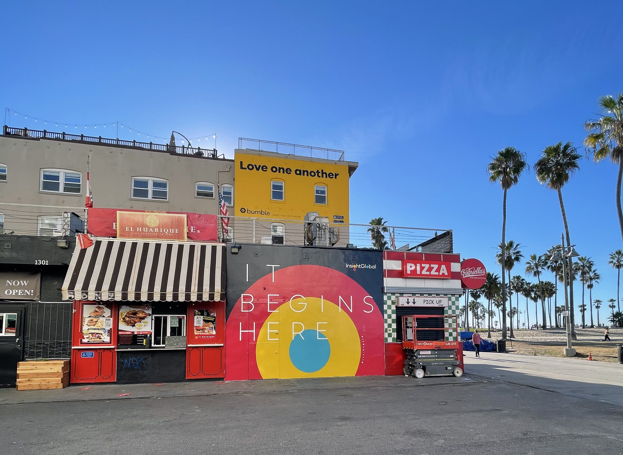 Boardwalk Hand Painted Advertisement