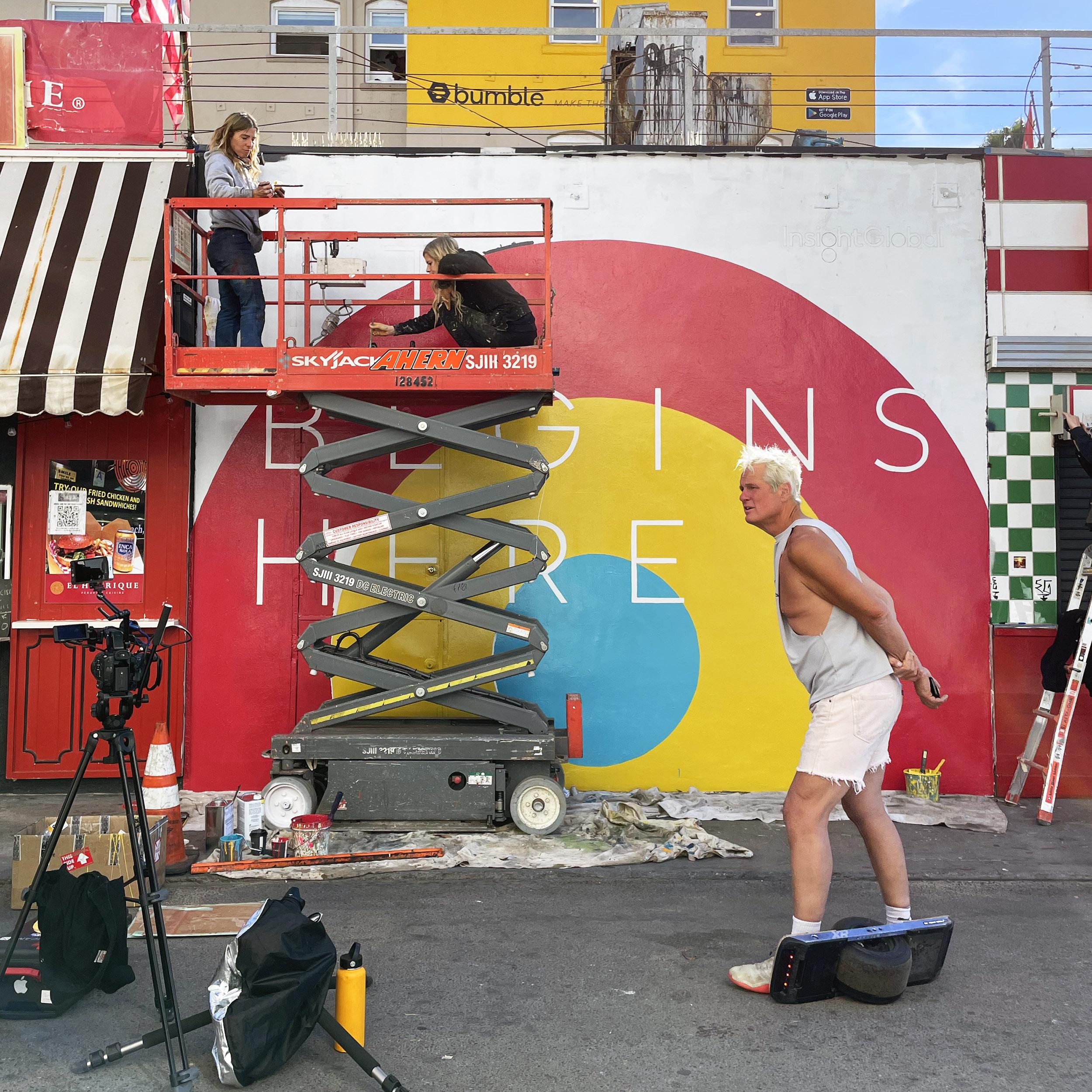 LA Boardwalk Beach Mural