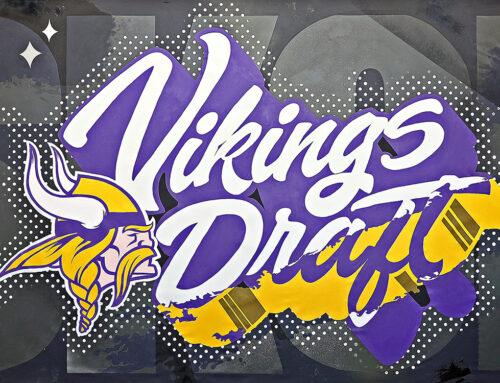 NFL Draft Mural for the Minnesota Vikings