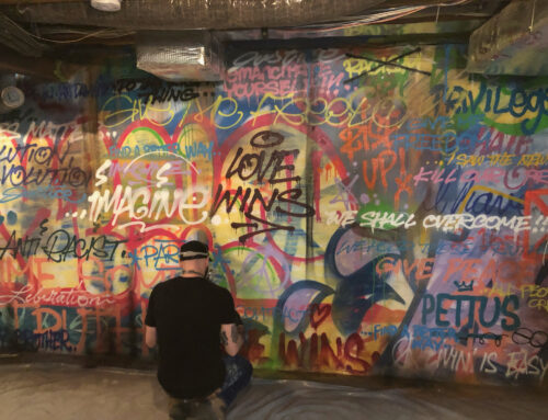 Graffiti Collage Murals for Private Residence in PA