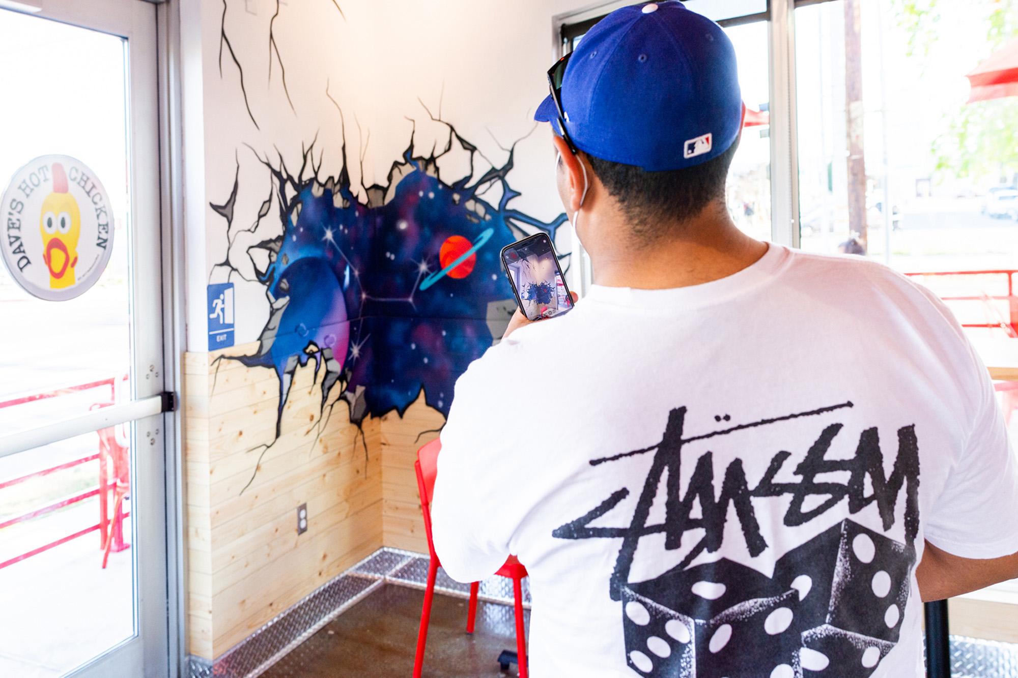 photo of restaurant graffiti art