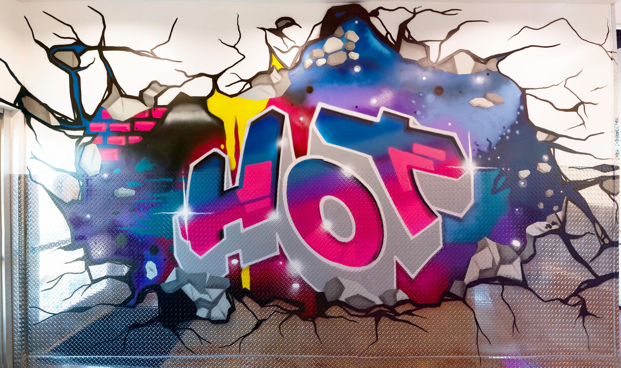hot chicken graffiti lettering