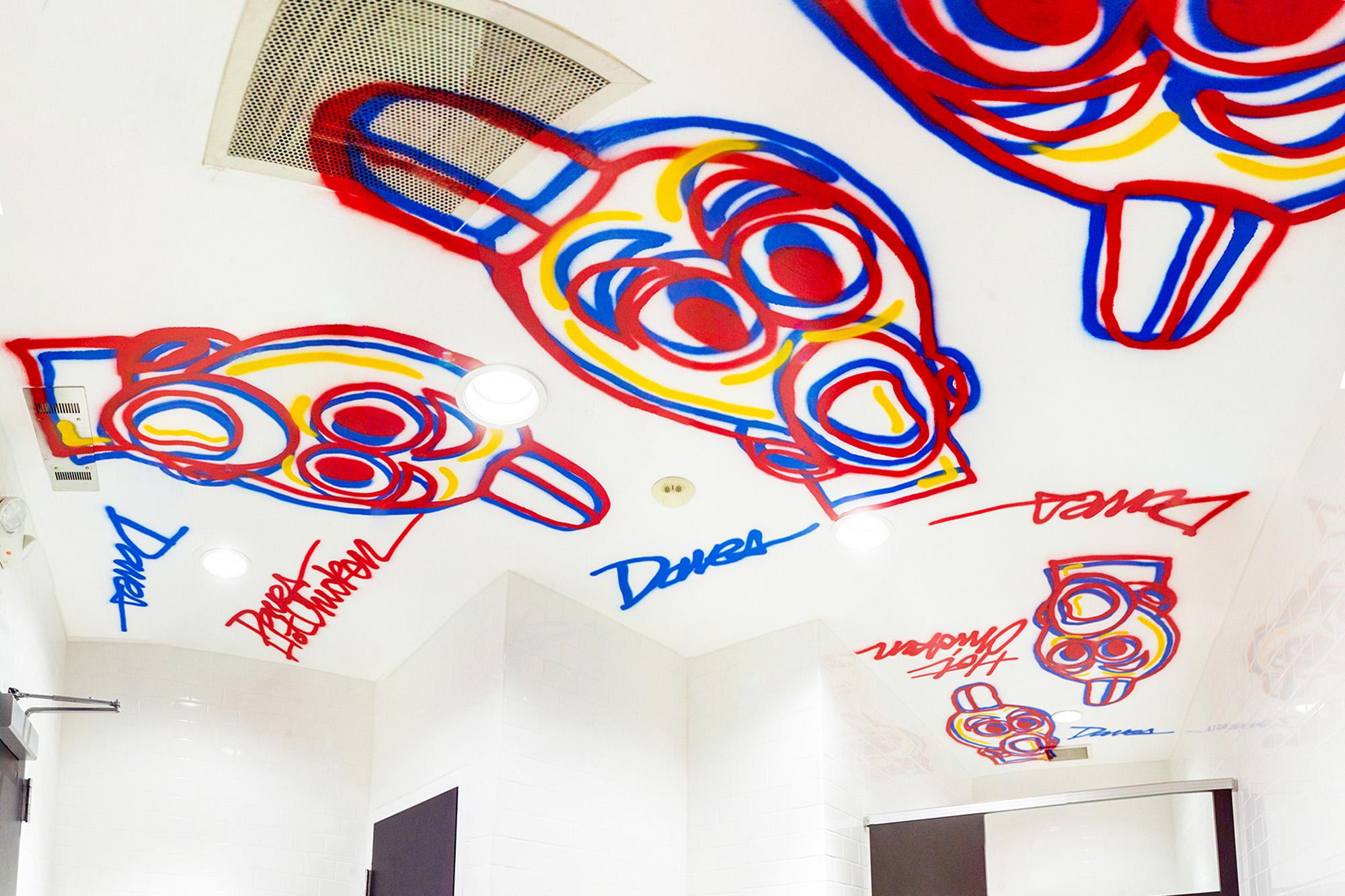ceiling street art restaurant