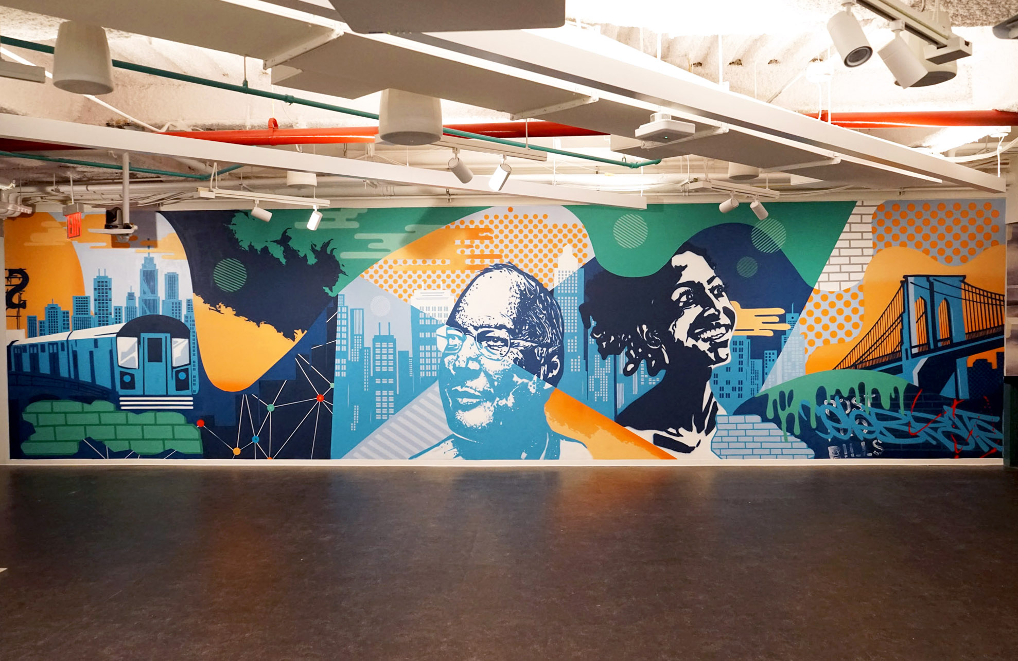 Interior Street Art for NYC Office