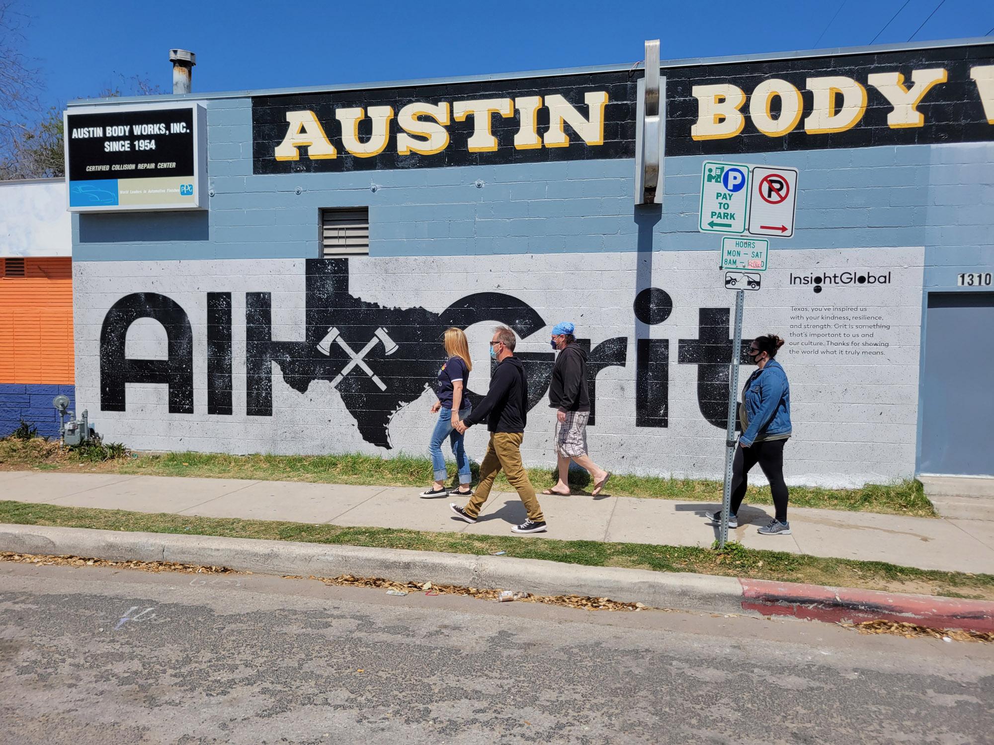 Austin Mural Advertisement - Hand Painted