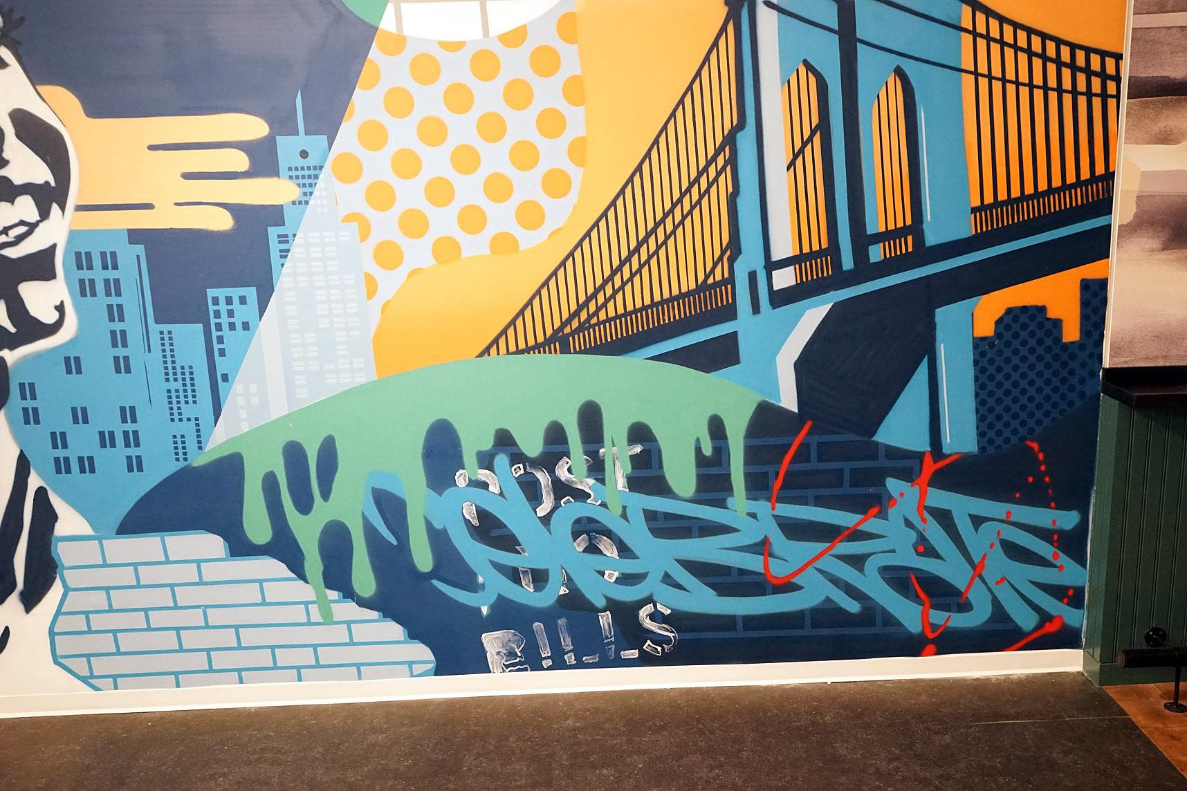 Detail of Interior Street Art Graffiti