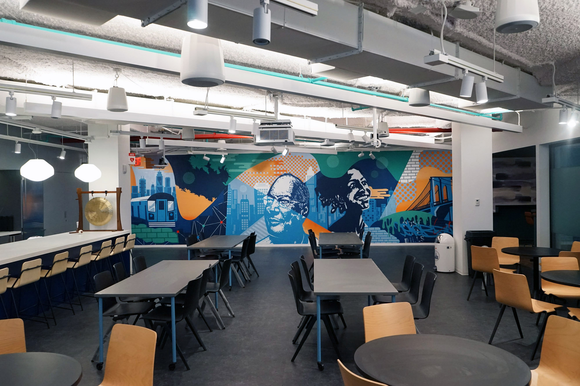 NYC Office Space Mural - Interior Street Art