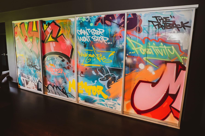 Street Art Collage Wall
